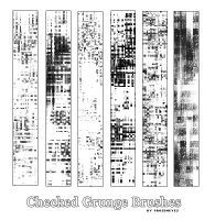 Checkered Grunge Brushes. by AlenaJay