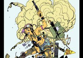 Tank Girl Inks Blog Color By Chaz by ChazWest