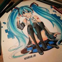 Hatsune Miku Fanart by NauticaWilliams