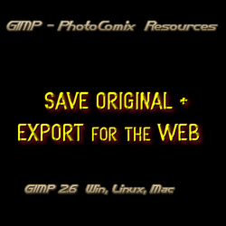 Gimp -SAVE +EXPORT by photocomix-resources