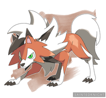 Lycanroc Dusk Form by SaintedKnight
