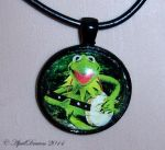 Kermit the Frog Necklace by AprilDraven