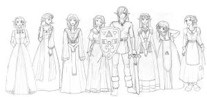Link and the Seven Maidens by Adella