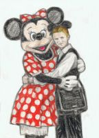 Thin White Duke with Minnie Mouse by gagambo