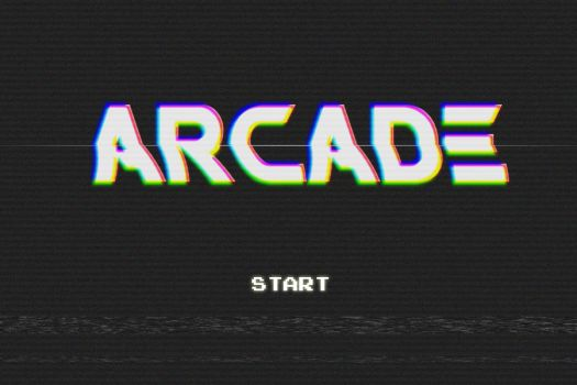 Oldschool Arcade Game Screen by undersc0r3