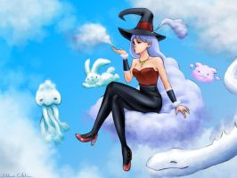 Cloud witch by Sciamano240