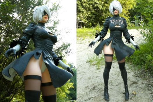 2B Nier Automata Costume for Genesis 3 F by guhzcoituz