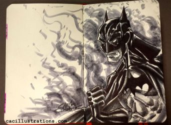 Batman Sketch by cac-illustrations