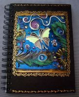 Art Journal Butterfly Feathers by MandarinMoon