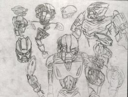 Kopaka Nuva and Tahu 2015 sketches by Taqresu650