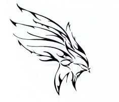 colored tribal wing by flawpunk