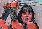 Xena Sketch Card by ssava