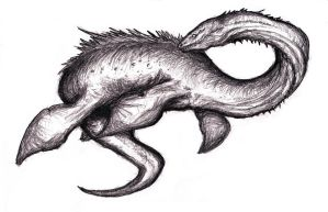 Loch Ness Monster, Plesiosaur Creature IV by KingOvRats