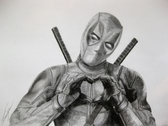 Deadpool - Heart by bio-girl91