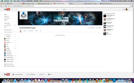 Youtube Channel Art for SoulsHDWalkthroughs by ciael