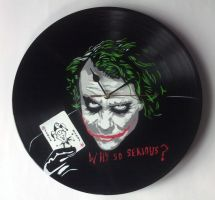 Joker on vinyl record clock by vantidus