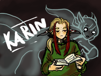 Karin - Title Screen by Lear-is-not-amused