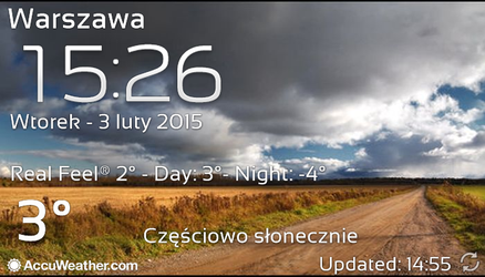 Real Sky Weather Widget and Galaxy Clock by Slavoo123