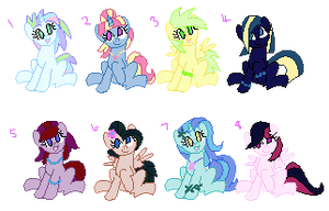 Tincy Wincy Little Ponies Adoptables by MonkFishyAdopts
