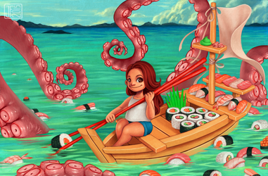 Sushi Boat by joifish