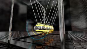 Evolution of Newton's Cradle (4k and Full HD) by Dario999