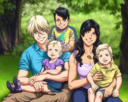 Quatre and Lista Family Portrait by SapphireGamgee