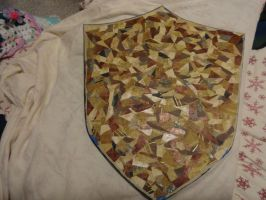 Making LOZ Shield Cont. by TeaBeeAdventures