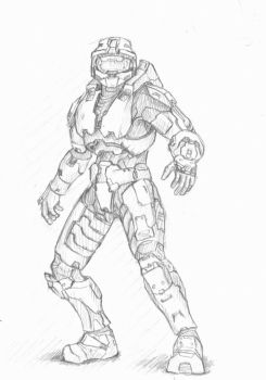 Master Chief sketch by ImBrokeRU