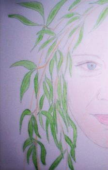 green hair drawing by a-Soper