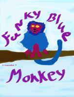 Funky Blue Monkey by leopardwolf