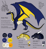 WOF Solar Flare the Skywing ref by Iron-Zing