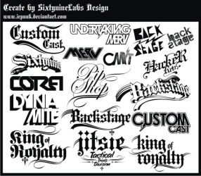 Old Logo and Typo by irpunk