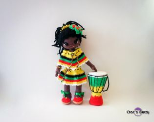 Dona and her Djembe by Crocsbetty