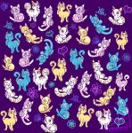 Colourful cats! by SarahRichford