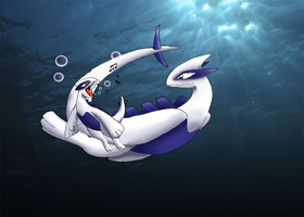 Lugia And Baby Lugia redone by CosmicSprinkles