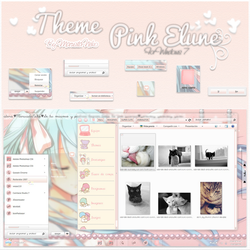 Theme Pink Elune Windows 7 n.n by marusitaneko