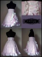 Pink Stripe Sweet Lolita Skirt by MissChubi