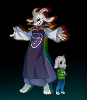 Asriel by foxvulpine