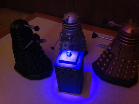 The Dalek's Have The Phonebox by ieatmousetraps