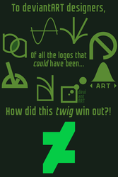 How did this twig win out? (8 alternate new logos) by JapanYoshi