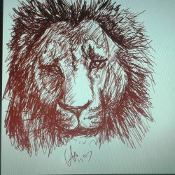 Lion Sketch by ShioBRain
