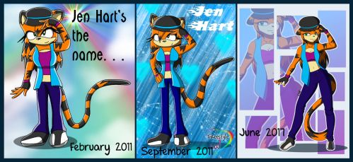 Jen Hart Progression by EvieGalaxy