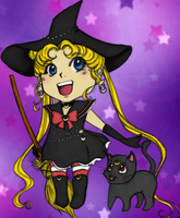 Witchy Sailor Moon by UndeadPrincess