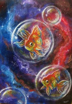 Space Fishes by BenjiiBen