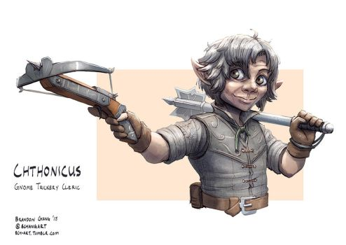 C: Chthonicus, Gnome Trickery Cleric by bchart