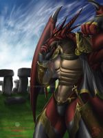 Neo Wondreico of Stonehenge iStony dracone by thefastzza