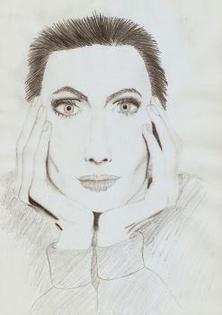 Drawing - Angelina Jolie by DesiderataLibertalia