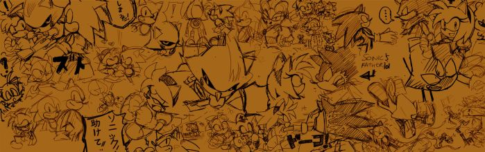 Random sonic doodles by LadyGT