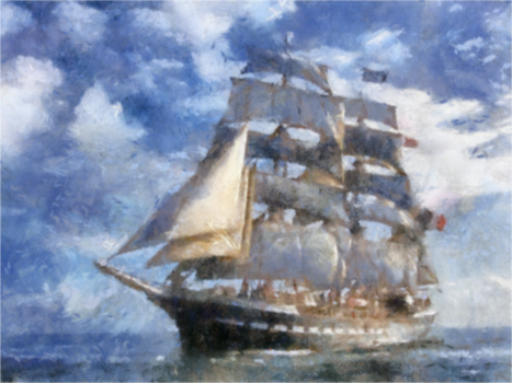 French Sailing Ship 1 LARGE by diverse-norm