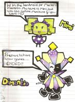 paper mimi and paper dimentio by Peach-X-Yoshi